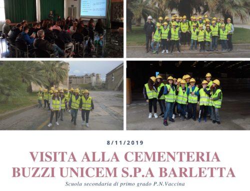 Visita alla Cementeria Buzzi Unicem S.p.A. di Barletta