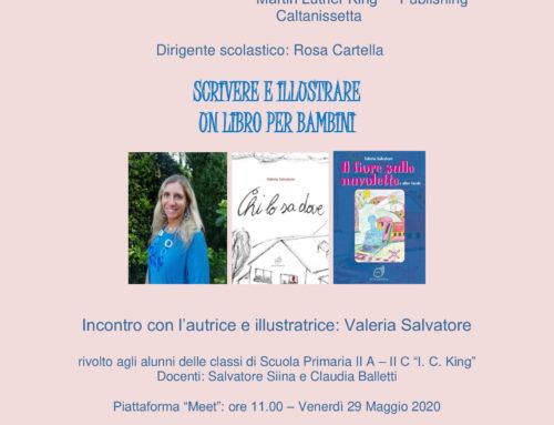 """Evento """"Scrivere e illustrare un libro per bambini"""": Gli alunni del King incontrano in videoconferenza l'autrice e illustratrice Valeria Salvatore"""