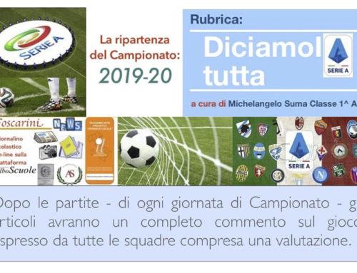 Le Pagelle delle Squadre della Serie A. – Anno: 2019/20
