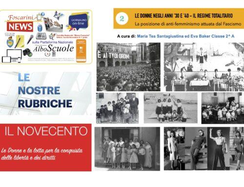LE DONNE NEGLI ANNI 30' e '40 – L'avventura Italiana.