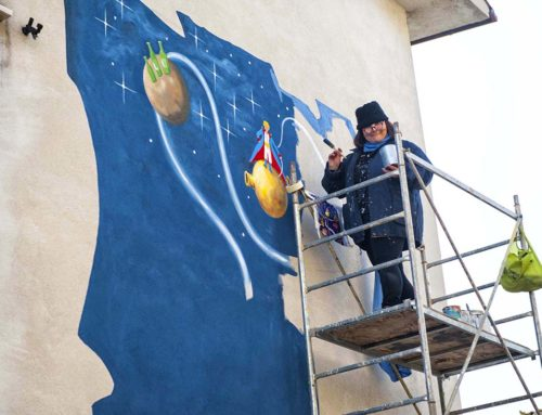 S.Angelo, il maltempo ferma il murales