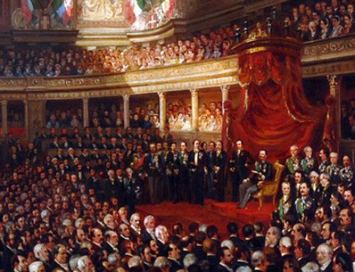 Il primo Parlamento italiano quasi 160 anni fa