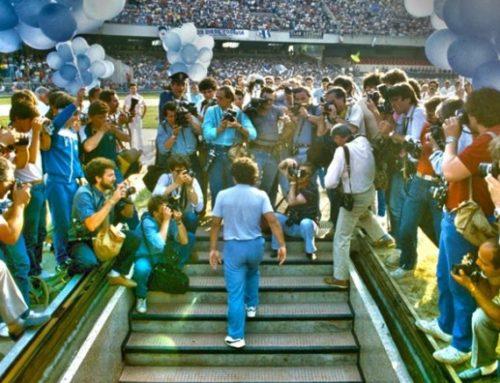 Maradona, stadio San Paolo 35 anni fa