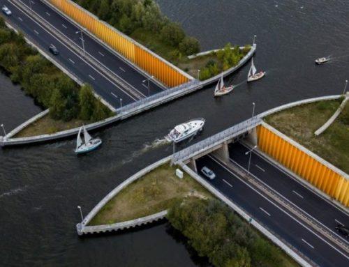 Un ponte al contrario nei Paesi Bassi
