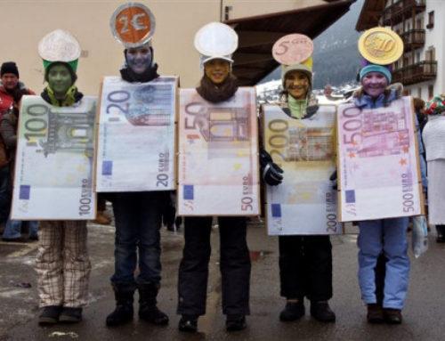 Ortisei, il Carnevale sfila a suon di euro