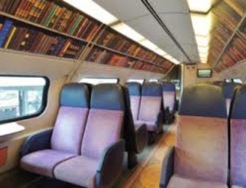 Nel vagone biblioteca il viaggio è più bello