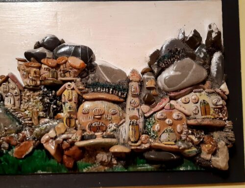"""Lanari, l'artista che """"dipinge"""" con i sassi"""