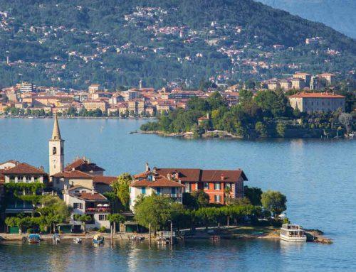 Passerella galleggiante sul Lago Maggiore