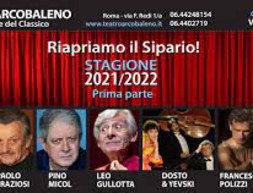 Il Teatro Arcobaleno riparte con un'infornata di grandi classici